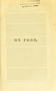 Cover of: On food | Edwin Lankester