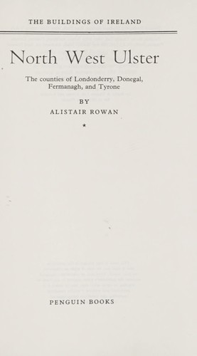 The buildings of Ireland by Alistair Rowan