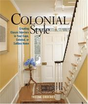 Cover of: Colonial Style | Treena Crochet