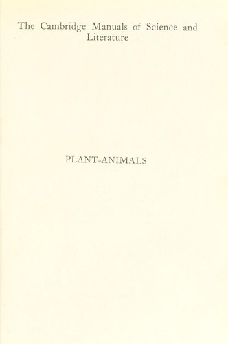 Plant-animals by Keeble, Frederick Sir