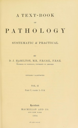 A textbook of pathology by David James Hamilton