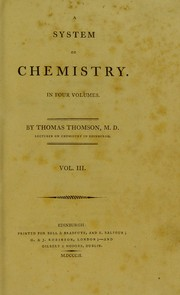Cover of: A system of chemistry | Thomson, Thomas