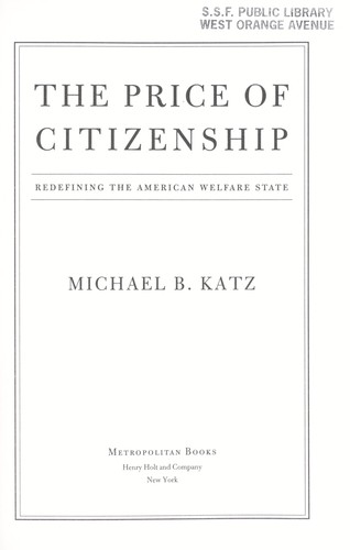 The price of citizenship by M. B. Katz