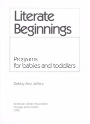 Cover of: Literate beginnings by Debby Ann Jeffery