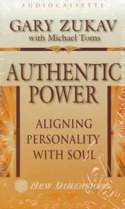 Cover of: Authentic Power by Gary Zukav