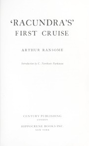 Cover of: Racundra's First Cruise by John Arthur Ransome Marriott
