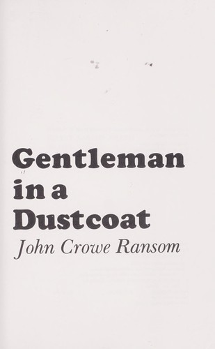 Gentleman in a dustcoat by Thomas Daniel Young