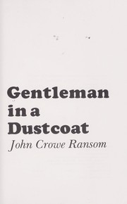 Cover of: Gentleman in a dustcoat | Thomas Daniel Young