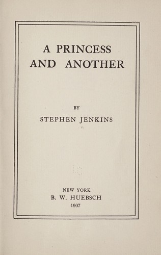 A princess and another by Jenkins, Stephen