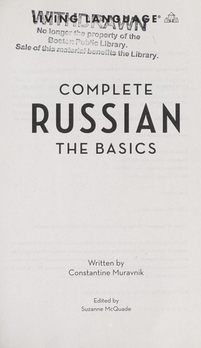 Complete Russian by Constantine Muravnik