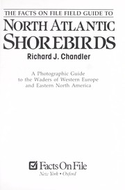 Cover of: The Facts On File field guide to North Atlantic shorebirds | Richard J. Chandler