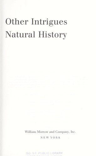 Dinosaur Plots and Other Intrigues in Natural History by Leonard Krishtalka