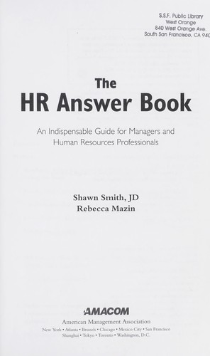 The HR answer book by Shawn A. Smith