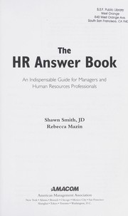 Cover of: The HR answer book by Shawn A. Smith