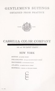 Cover of: Gentlemen's suitings | Cassella Color Company