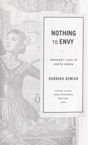 Cover of: Nothing to envy | Barbara Demick
