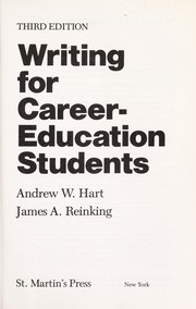 Cover of: Writing for career-education students | Andrew W. Hart
