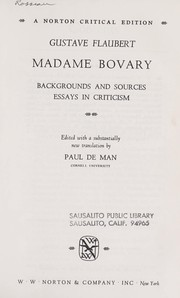 madame bovary edition open library madame bovary backgrounds and sources essays in criticism