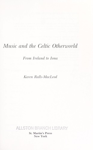 Music and the Celtic otherworld by Karen Ralls