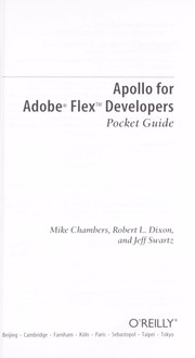 Cover of: Apollo for Adobe Flex developers | Mike Chambers