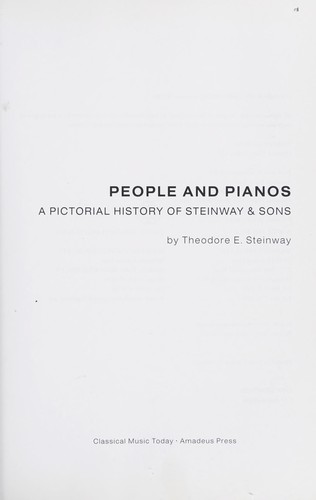 People and pianos by Steinway & Sons