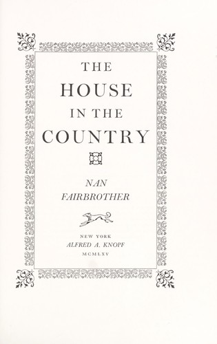 The house in the country by Nan Fairbrother