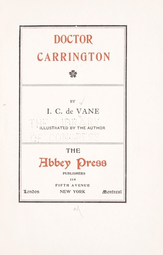 Doctor Carrington by I. C. De Vane