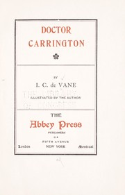 Cover of: Doctor Carrington by I. C. De Vane