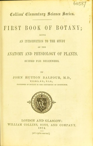 First book of botany by John Hutton Balfour