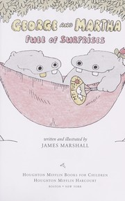 Cover of: George and Martha, full of surprises by James Marshall
