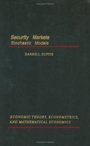 Cover of: Security markets | Darrell Duffie