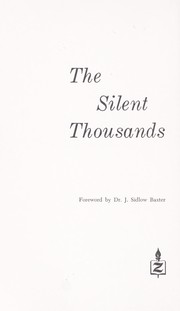 Cover of: The silent thousands suddenly speak! by Charles E. Blair