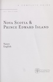 Cover of: Nova Scotia & Prince Edward Island | Nancy English