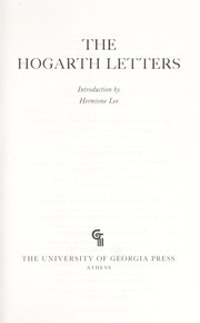 Cover of: The Hogarth letters |