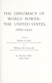 Cover of: The diplomacy of world power | Arthur Stanley Link