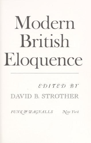 Modern British eloquence by David B. Strother