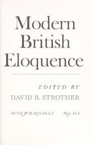 Cover of: Modern British eloquence by David B. Strother