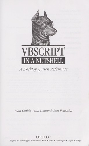 VBScript in a nutshell by Matt Childs