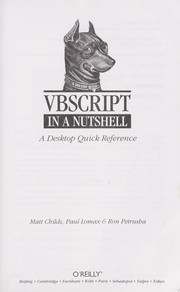 Cover of: VBScript in a nutshell | Matt Childs