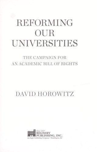Reclaiming our universities by David Horowitz