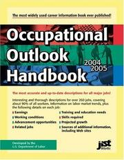 Cover of: Occupational Outlook Handbook | United States. Department of Labor.