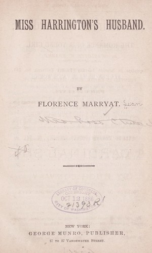 Miss Harrington's husband by Florence Marryat