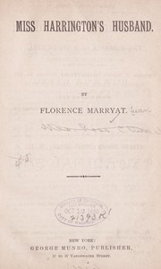Cover of: Miss Harrington's husband | Florence Marryat