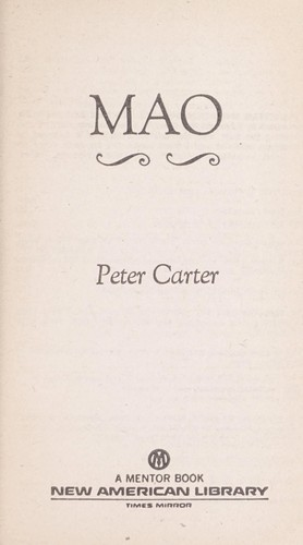 Mao by Peter Carter, Peter Carter