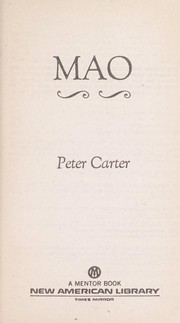 Cover of: Mao | Peter Carter, Peter Carter