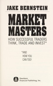 Cover of: Market Masters | Jacob Bernstein, Jake Bernstein