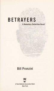 Cover of: Betrayers by Bill Pronzini