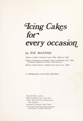 Icing cakes for every occasion by Eve Watkins