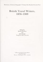British travel writers, 1876-1909