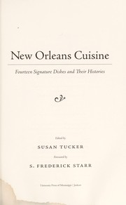 Cover of: New Orleans cuisine |